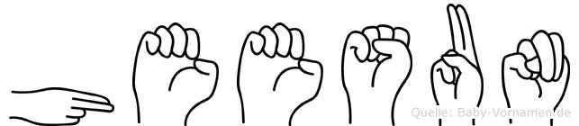Heesun im Fingeralphabet der Deutschen Gebärdensprache