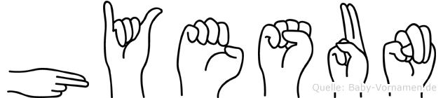 Hyesun in Fingersprache für Gehörlose