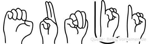 Eunji in Fingersprache für Gehörlose