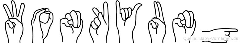 Wonkyung im Fingeralphabet der Deutschen Gebärdensprache