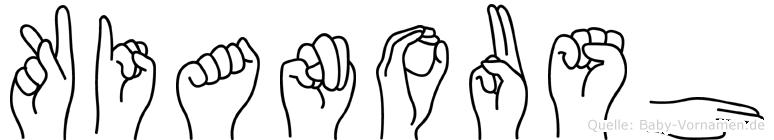 Kianoush im Fingeralphabet der Deutschen Gebärdensprache