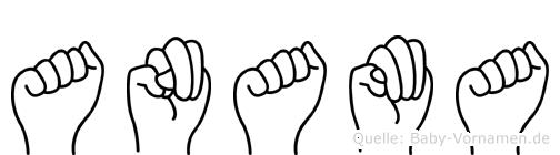 Anama in Fingersprache für Gehörlose