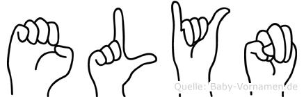 Elyn im Fingeralphabet der Deutschen Gebärdensprache