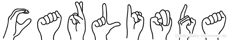 Carlinda im Fingeralphabet der Deutschen Gebärdensprache