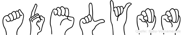 Adelynn im Fingeralphabet der Deutschen Gebärdensprache