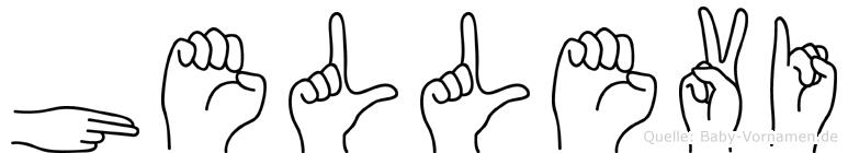 Hellevi im Fingeralphabet der Deutschen Gebärdensprache
