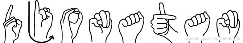 Djonatan in Fingersprache für Gehörlose