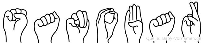Sanobar im Fingeralphabet der Deutschen Gebärdensprache