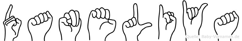 Daneliya im Fingeralphabet der Deutschen Gebärdensprache