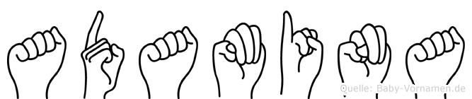 Adamina im Fingeralphabet der Deutschen Gebärdensprache