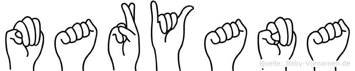 Maryana in Fingersprache für Gehörlose