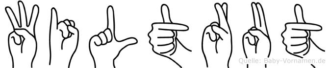 Wiltrut im Fingeralphabet der Deutschen Gebärdensprache