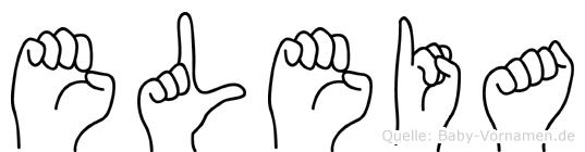 Eleia in Fingersprache für Gehörlose