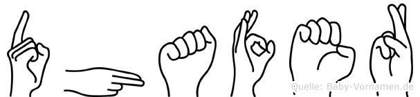 Dhafer in Fingersprache für Gehörlose
