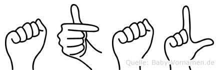 Atal im Fingeralphabet der Deutschen Gebärdensprache