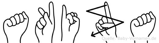 Akiza im Fingeralphabet der Deutschen Gebärdensprache