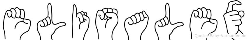 Elisalex im Fingeralphabet der Deutschen Gebärdensprache