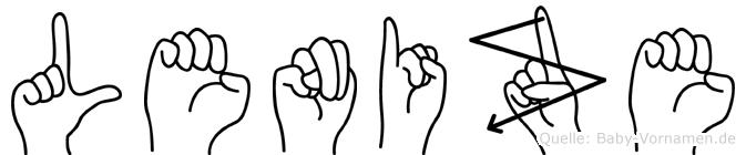 Lenize im Fingeralphabet der Deutschen Gebärdensprache