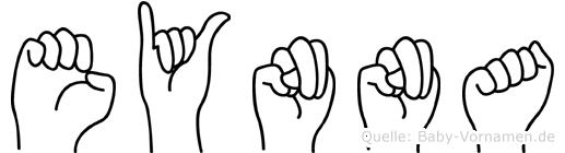 Eynna im Fingeralphabet der Deutschen Gebärdensprache
