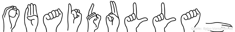 Obaidullah im Fingeralphabet der Deutschen Gebärdensprache