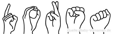 Dorsa im Fingeralphabet der Deutschen Gebärdensprache