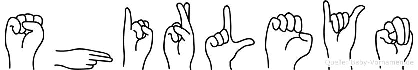 Shirleyn im Fingeralphabet der Deutschen Gebärdensprache