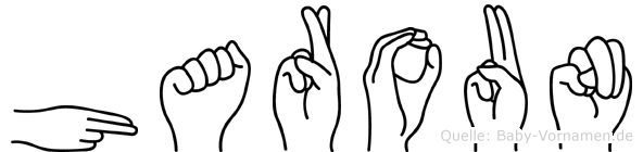 Haroun im Fingeralphabet der Deutschen Gebärdensprache