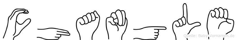 Changle im Fingeralphabet der Deutschen Gebärdensprache
