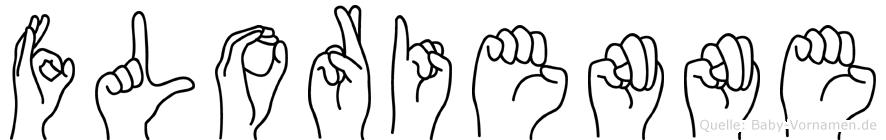 Florienne im Fingeralphabet der Deutschen Gebärdensprache
