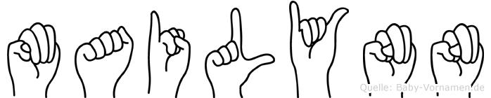 Mailynn im Fingeralphabet der Deutschen Gebärdensprache