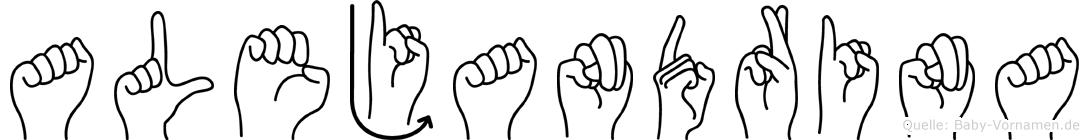 Alejandrina im Fingeralphabet der Deutschen Gebärdensprache