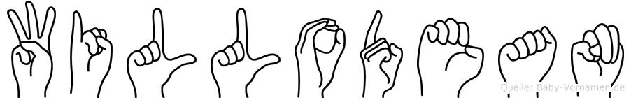 Willodean im Fingeralphabet der Deutschen Gebärdensprache