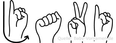 Javi im Fingeralphabet der Deutschen Gebärdensprache