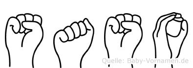 Saso in Fingersprache für Gehörlose