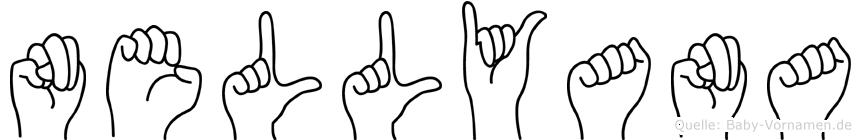 Nellyana im Fingeralphabet der Deutschen Gebärdensprache