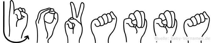 Jovanna im Fingeralphabet der Deutschen Gebärdensprache