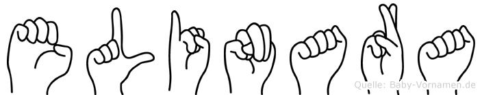 Elinara im Fingeralphabet der Deutschen Gebärdensprache