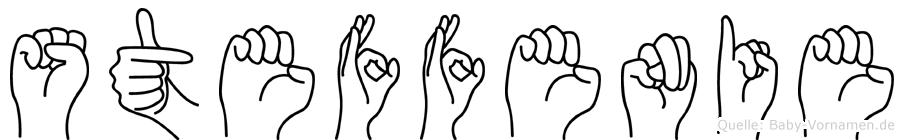 Steffenie im Fingeralphabet der Deutschen Gebärdensprache