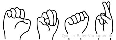 Enar im Fingeralphabet der Deutschen Gebärdensprache