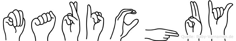 Marichuy im Fingeralphabet der Deutschen Gebärdensprache