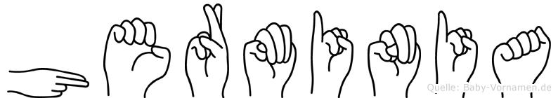 Herminia im Fingeralphabet der Deutschen Gebärdensprache
