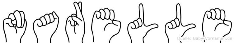 Narelle im Fingeralphabet der Deutschen Gebärdensprache