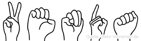 Venda im Fingeralphabet der Deutschen Gebärdensprache