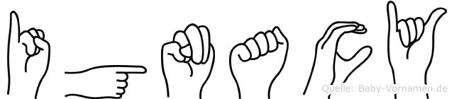 Ignacy im Fingeralphabet der Deutschen Gebärdensprache