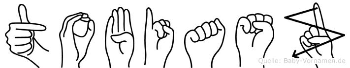 Tobiasz im Fingeralphabet der Deutschen Gebärdensprache