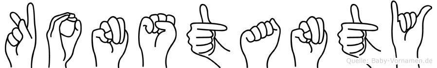 Konstanty im Fingeralphabet der Deutschen Gebärdensprache