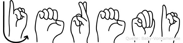 Jeremi im Fingeralphabet der Deutschen Gebärdensprache