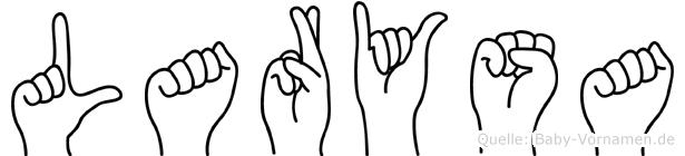 Larysa im Fingeralphabet der Deutschen Gebärdensprache