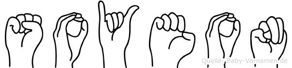 Soyeon im Fingeralphabet der Deutschen Gebärdensprache