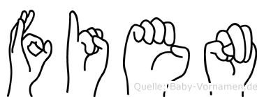 Fien im Fingeralphabet der Deutschen Gebärdensprache
